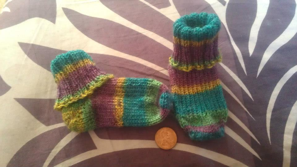 Tutorial for Two at a Time Magic Loop Socks